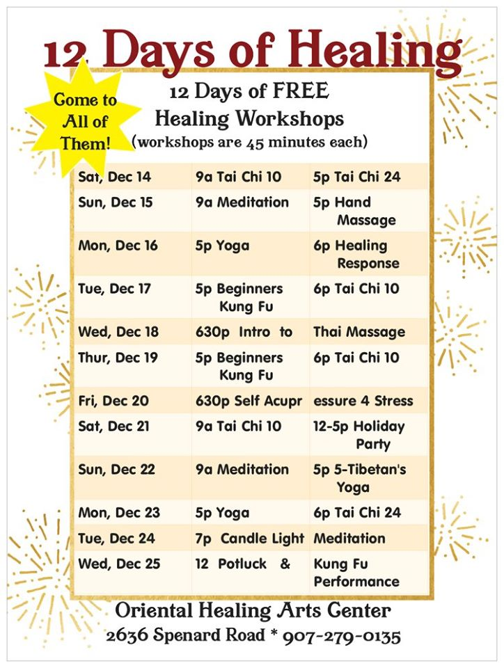 12 Days of Healing Free Workshops
