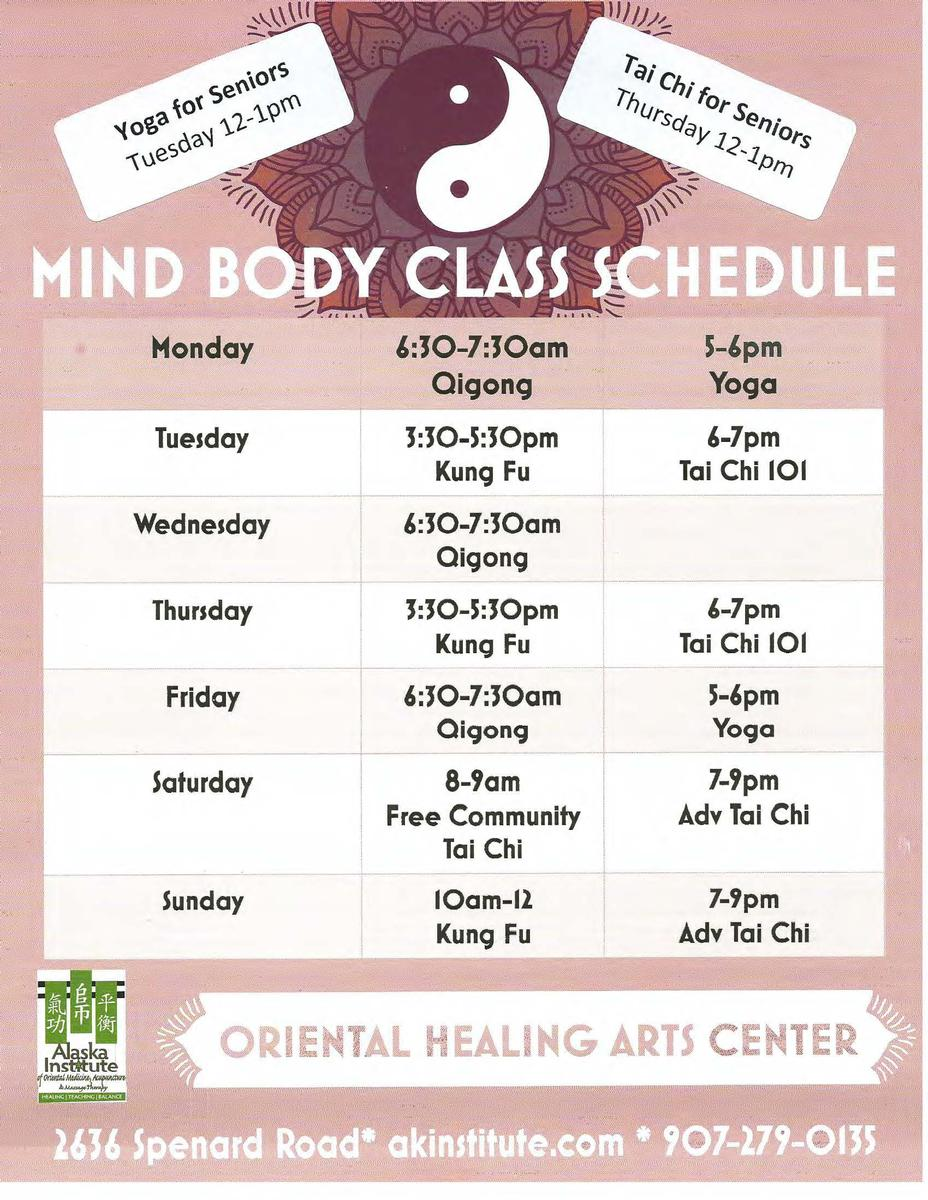 Mind Body Movement Classes at Oriental Healing Arts Center